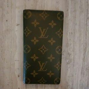 Louis Vuitton brown monogram long bifold wallet